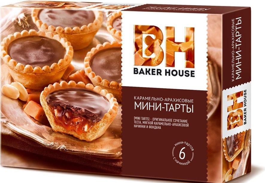 Кексы Baker House Мини тарты карамель арахис