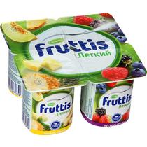 Йогурт Fruttis Легкий Ананас-Дыня Лесные ягоды 0,1% 4 шт.