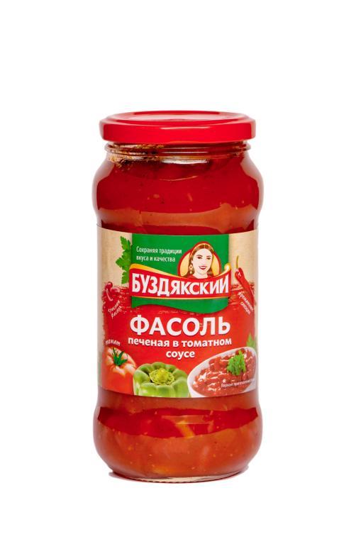 Фасоль Буздякский печеная в томатном соусе