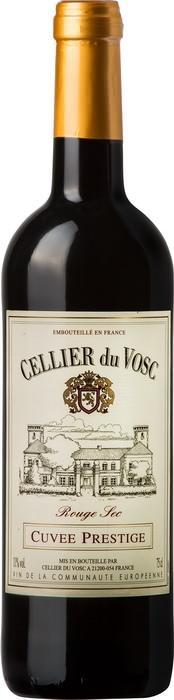 Вино Селье дю Воск Кюве Престиж / Cellier du Vosc Cuvee Prestige Red Dry,  Ассамбляж красных сортов,  Красное Сухое, Франция