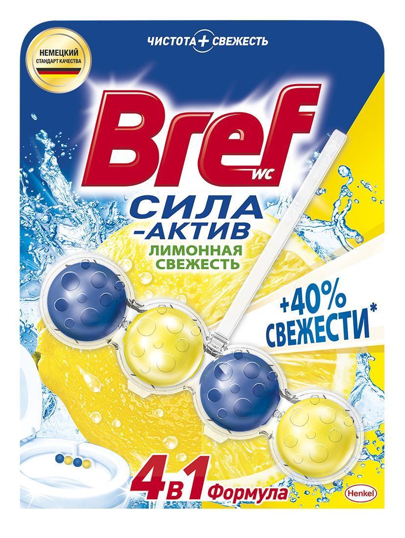 Чистящее средство для унитаза Bref Сила-актив Лимонная свежесть 4 в 1