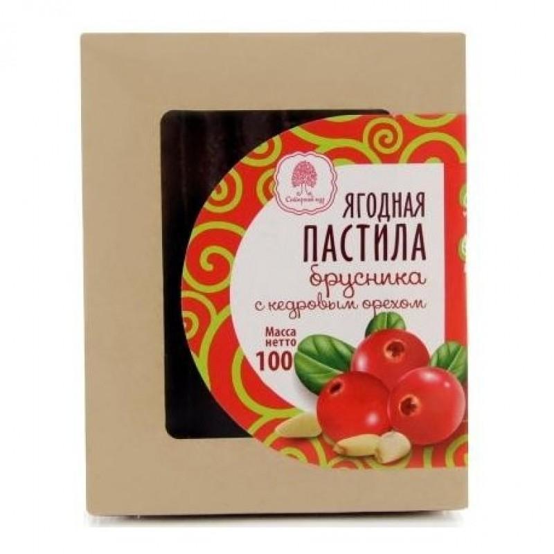 Пастила Сибирский Кедр Брусника ягодная с кедровым орехом