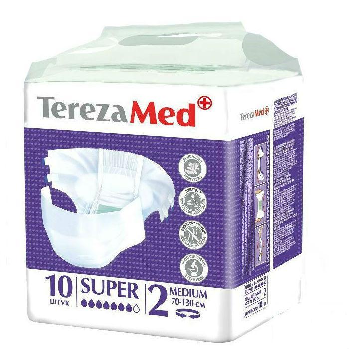 Подгузники для взрослых Tereza Med Super medium 2 70-130см 10 шт