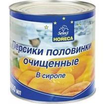 Персики Horeca Select половинки очищенные в сиропе