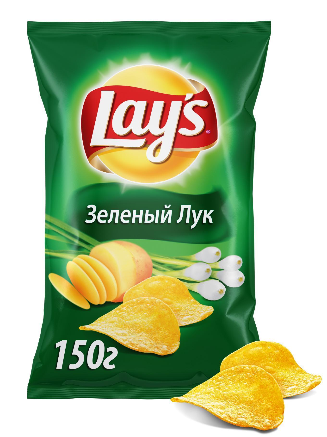 Чипсы Lays Зеленый лук картофельные