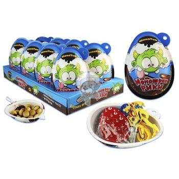 Яйцо ВК Монстрик Рикис печеньем и игрушкой