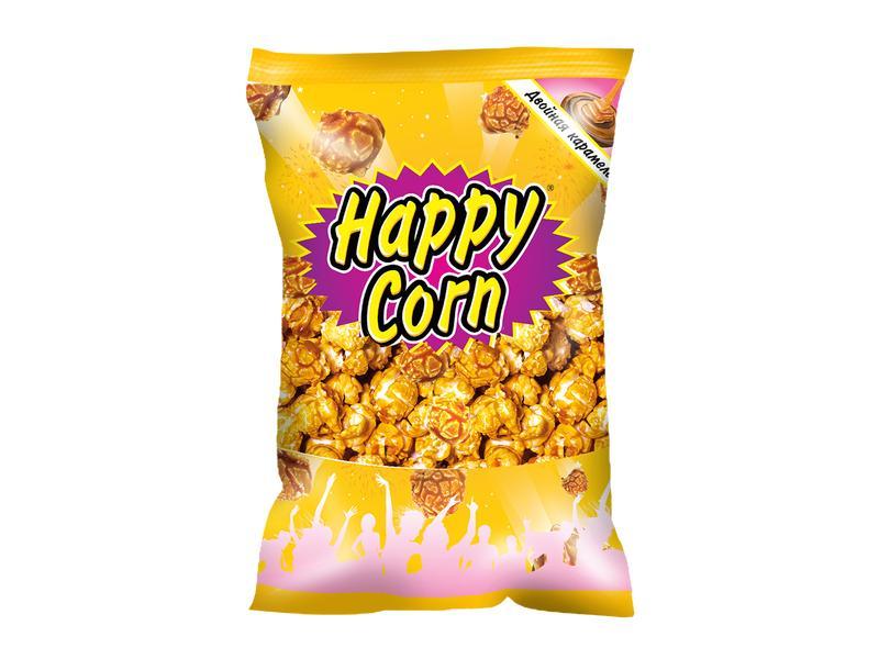 Попкорн Happy Corn Двойная карамель