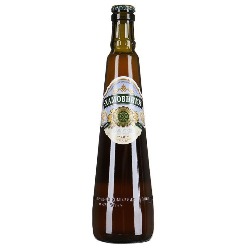 Пиво Хамовники Пшеничное Баварское светлое 4,8%