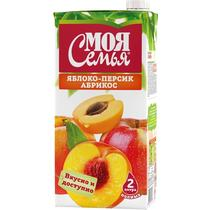 Нектар Моя Семья персик-абрикос
