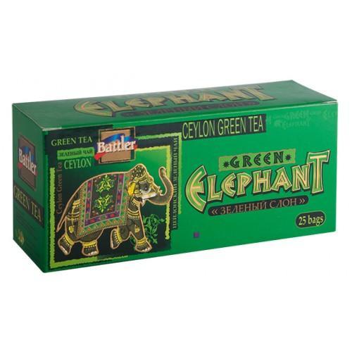 Чай зеленый Battler 3170 Зелёный Слон 25 пакетов