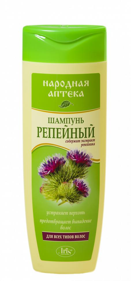 Шампунь для волос Iris Народная аптека Репейный для всех типов волос