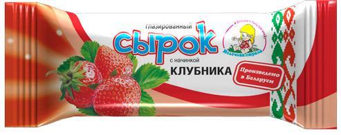 Сырок глазированный Молочная страна Клубника 20%