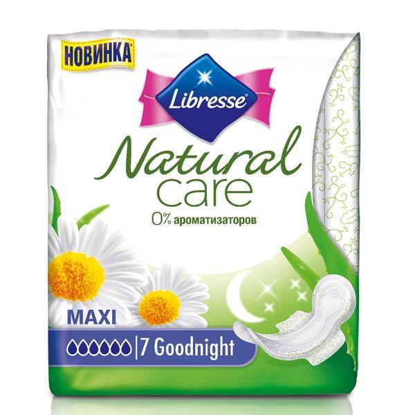 Прокладки Libresse Natural Care Ночные 7шт.