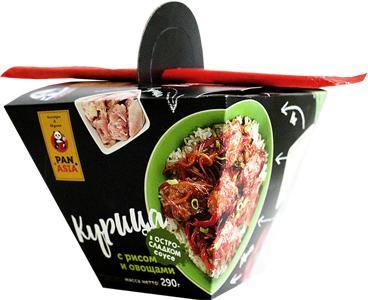 Курица Pan Asia С рисом и овощами в остро-сладком соусе