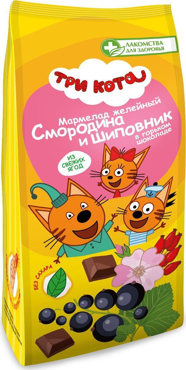 Мармелад Лакомства для здоровья Три кота Смородина и шиповник в горьком шоколаде