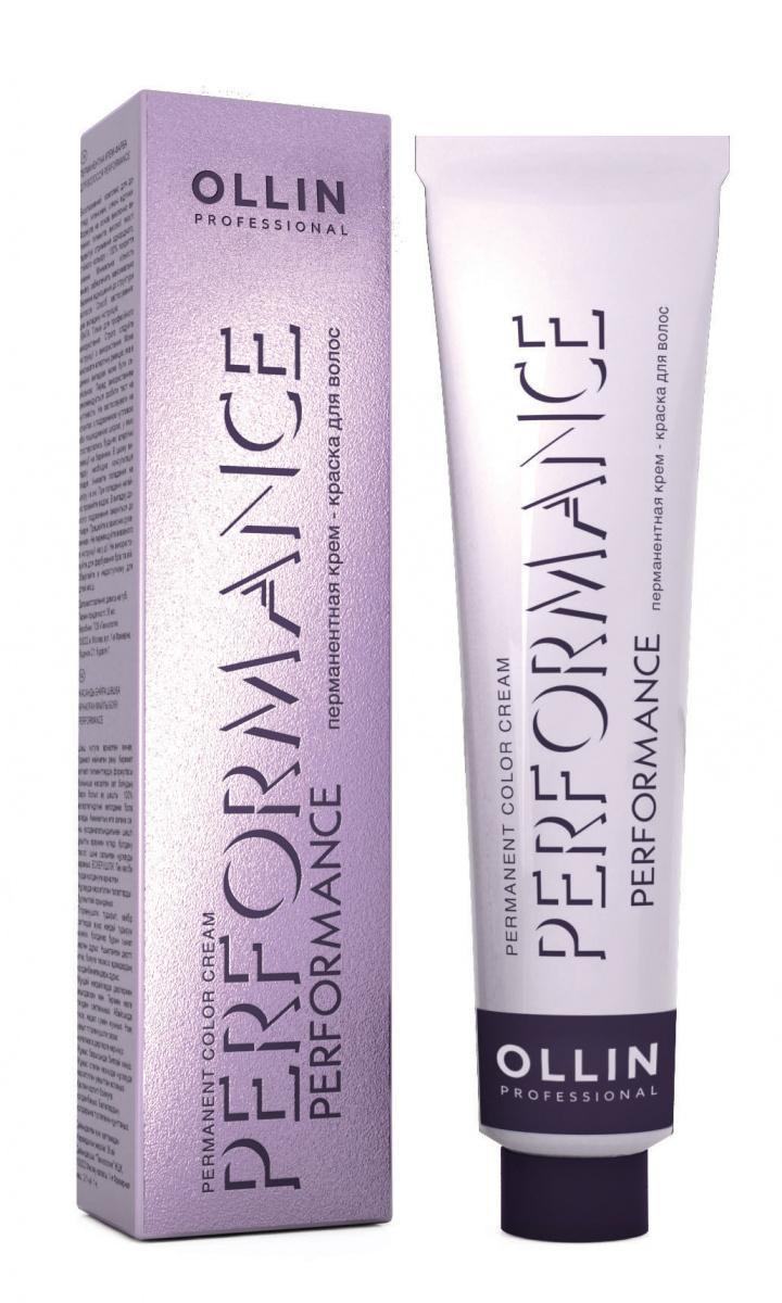 Крем-краска Ollin Professional перманентная для волос 9/21 блондин фиолетово-пепельный