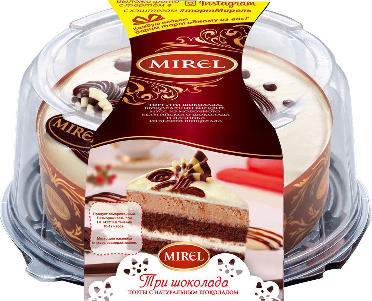 Торт Mirel Три шоколада слоеный