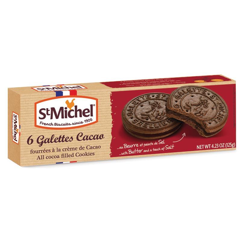 Печенье St Michel 6 galettes Cacao fourrées à la crème de Cacao