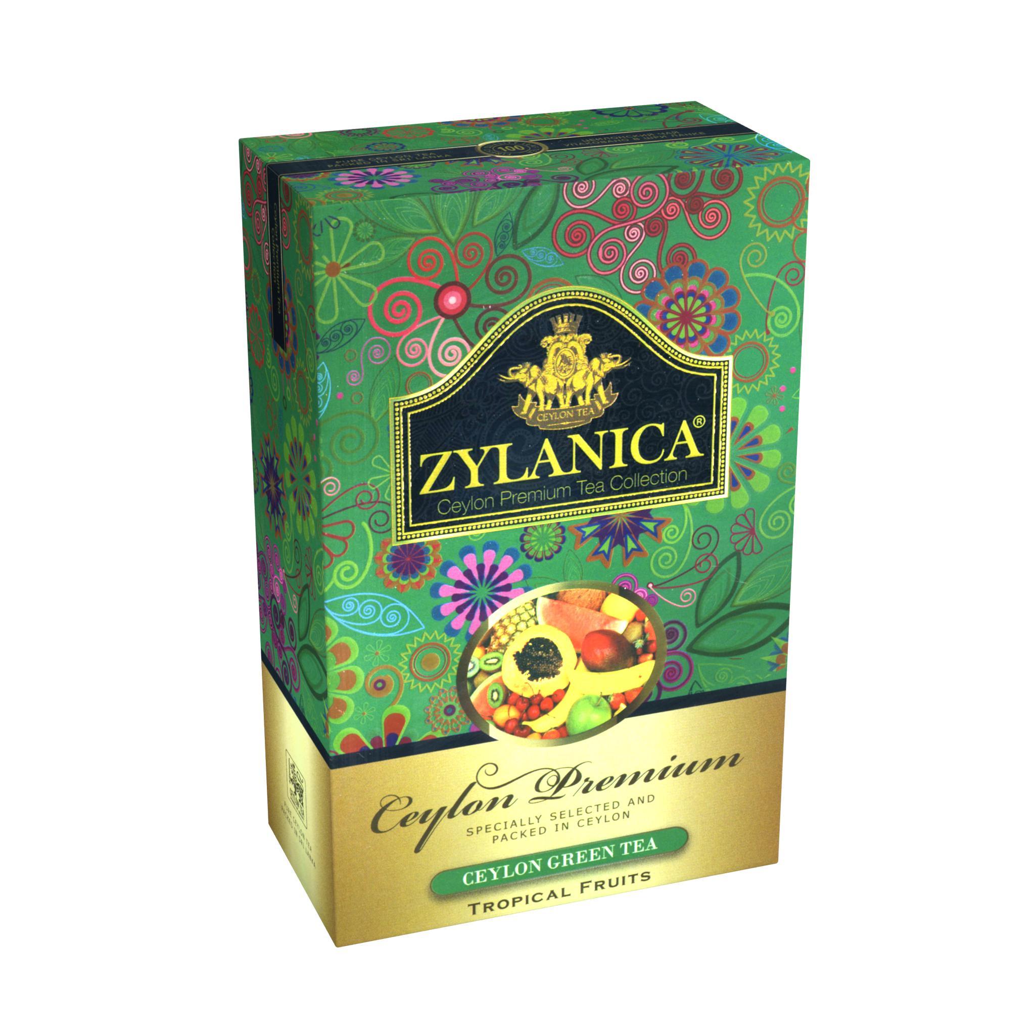 Чай Zylanica Ceylon Premium Collection Тропические фрукты зеленый