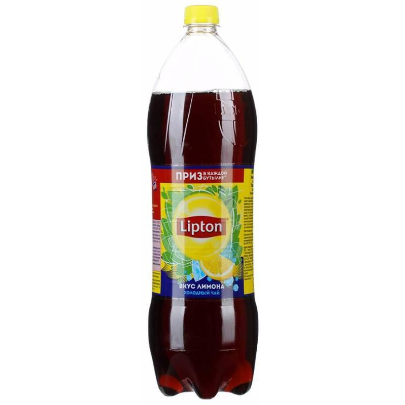 Чай холодный лимон Lipton 1.25 л., Пластиковая бутылка