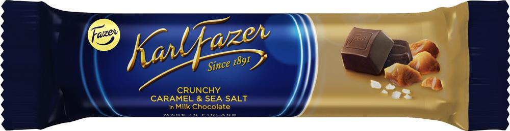 Батончик Fazer из молочного шоколада с кусочками карамели и морской солью