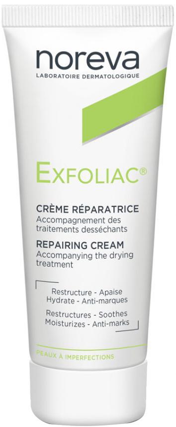 Крем для лица Noreva Exfoliac восстанавливающий увлажняющий для жирной проблемной кожи