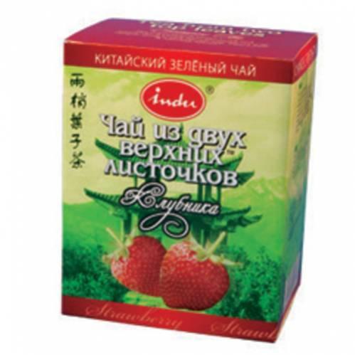 Чай Indu зеленый с клубникой