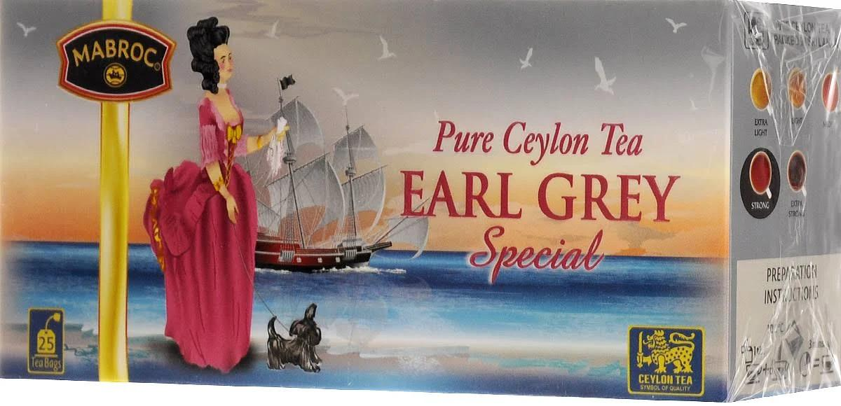 Чай черный Mabroc Earl Grey Special 25 пакетов