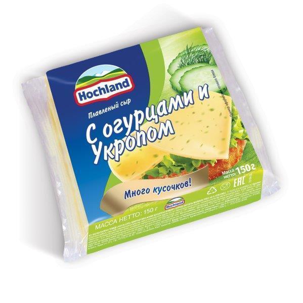 Сыр пл Хохланд 150г тосты ф-18 с огурцами и укропом