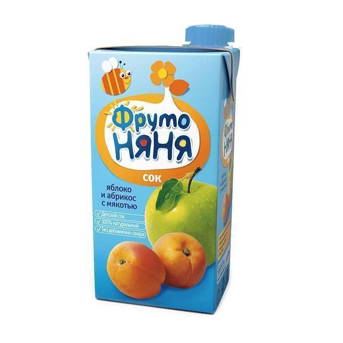 Сок ФрутоНяня Яблоко и абрикос с мякотью
