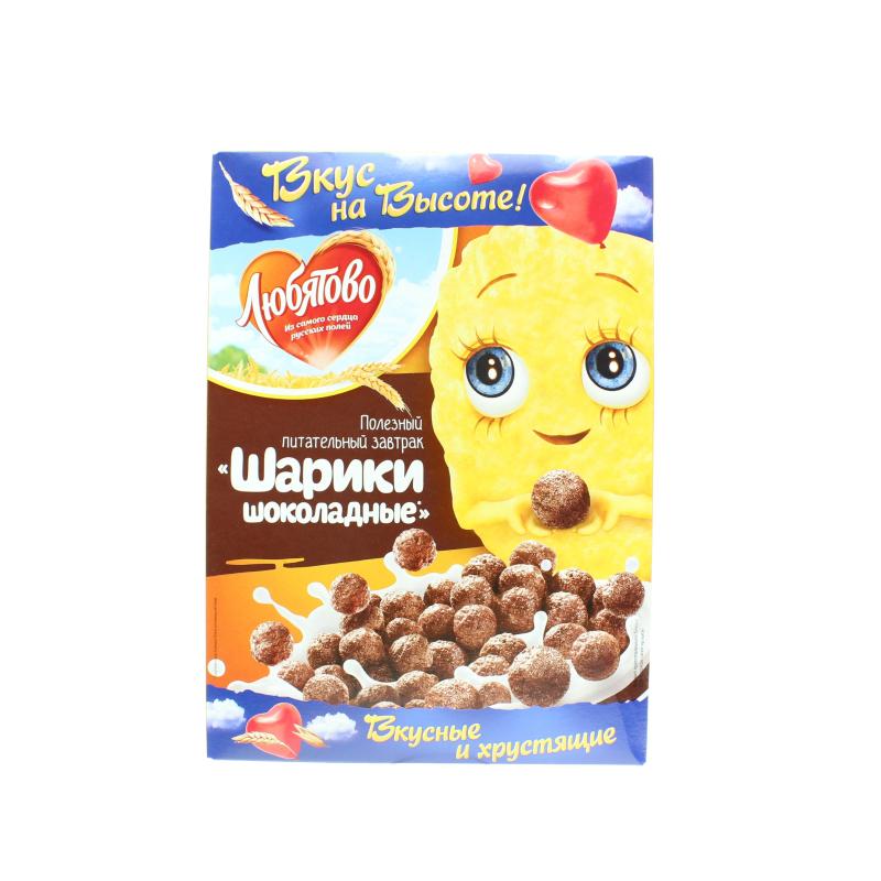 Завтраки сухие Любятово Шарики шоколадные
