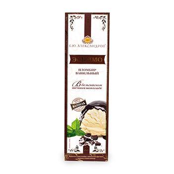 Мороженое Б.Ю. Александров Эскимо пломбир ванильный в темном шоколаде