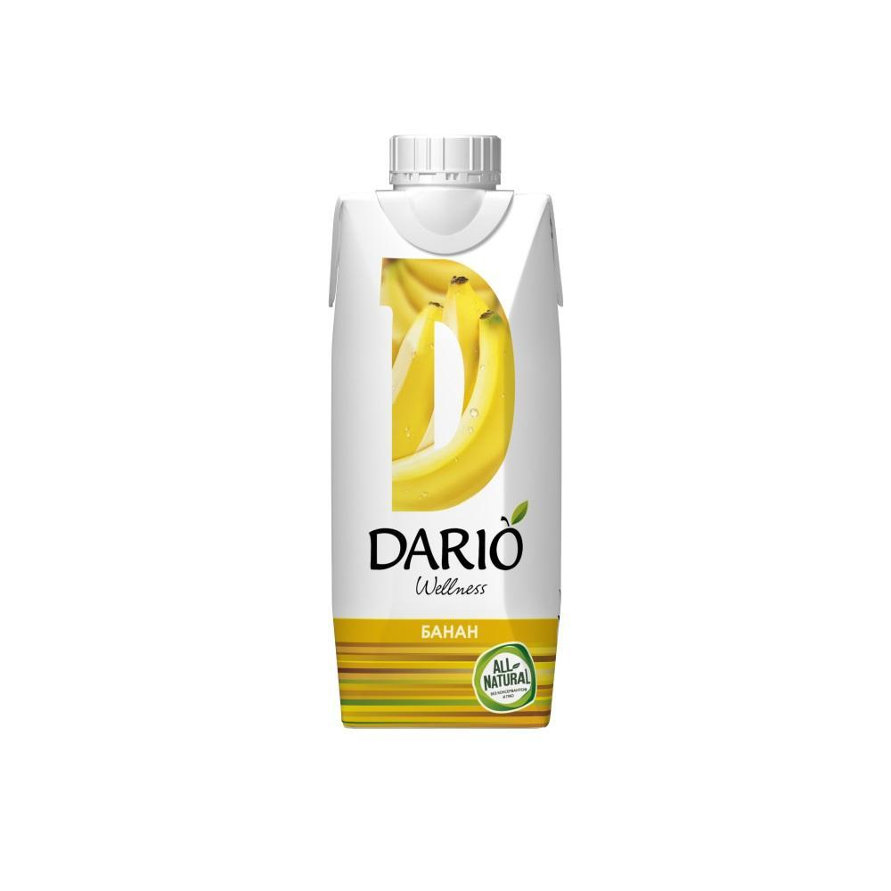 Сок Дарио Велнес банановый с мякостью