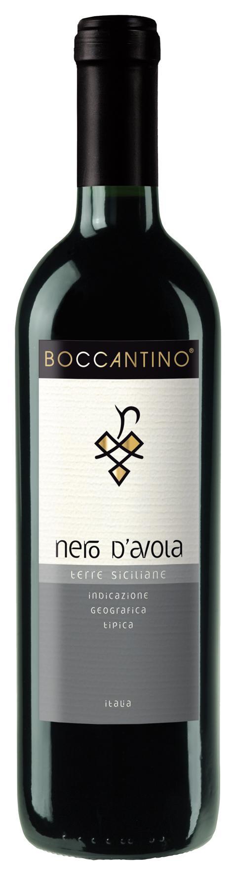 Вино Боккантино Неро д`Авола Сицилия, Италия