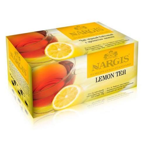 Чай Nargis Лимон черный в пакетиках