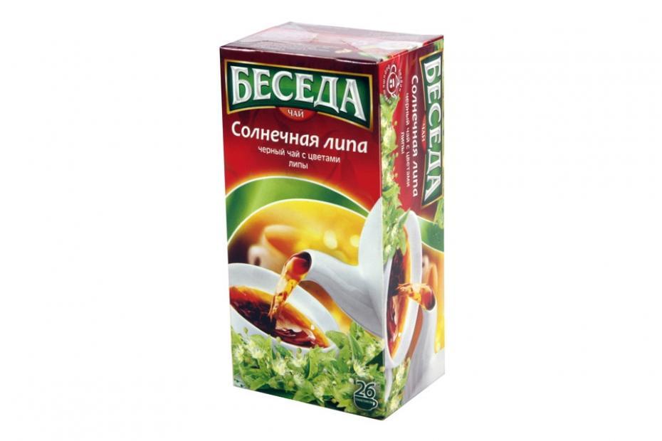 Чай черный Беседа Ароматизированный с цветами липы 26 пакетов 39 гр