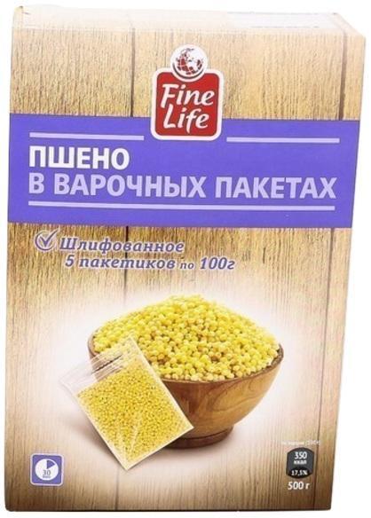 Крупа Fine Life Пшено отборное 5 варочных пакетов
