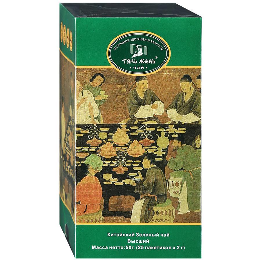 Чай Тянь Жень в пакетиках китайский зеленый высший