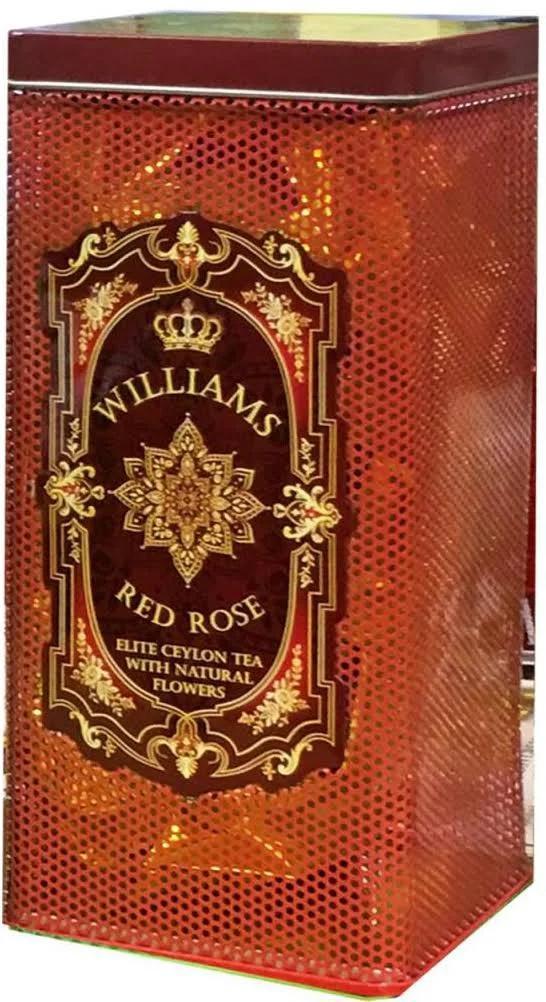 Чай черный Williams Red Rose Листовой с лепестками роз 150 гр