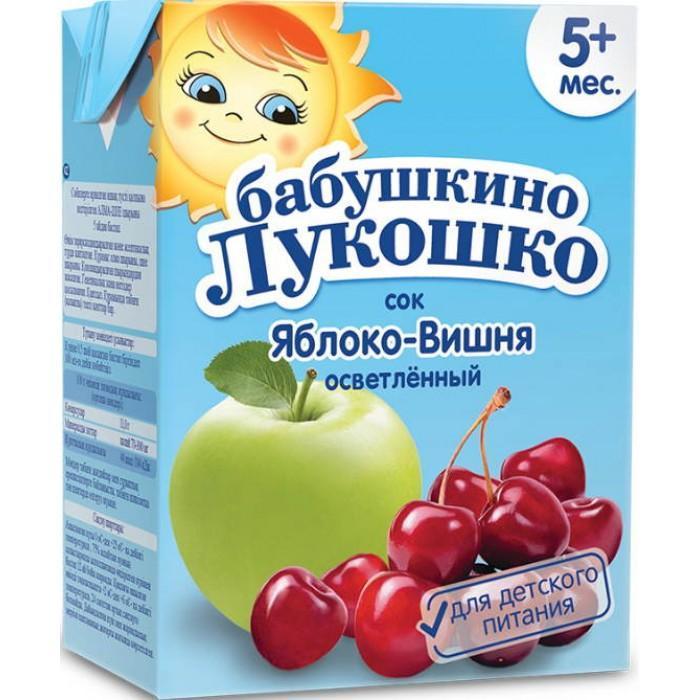 Сок Бабушкино лукошко Яблочно-вишневый осветленный с 5 месяцев