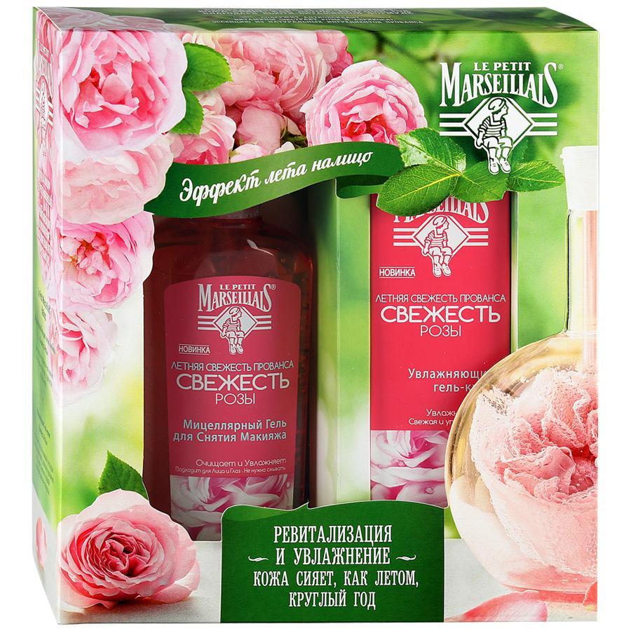 Набор Le Petit Marseillais Гель-Крем Свежесть розы и Мицеллярный гель для снятия макияжа