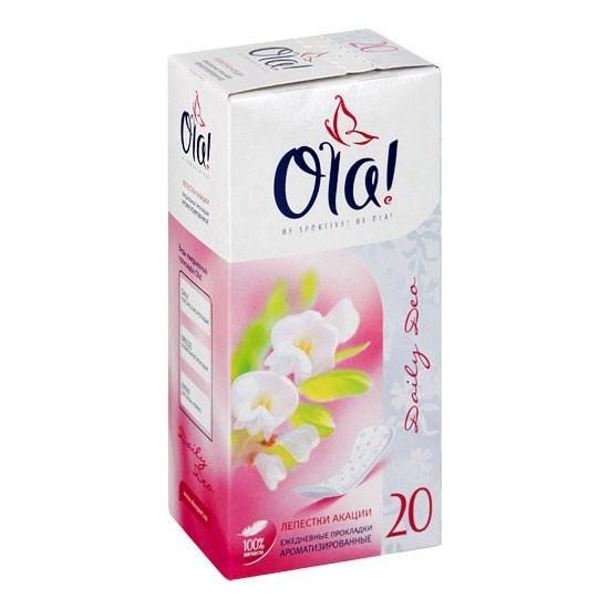 Прокладки Ola! Daily Deo Ежедневные Лепестки акации 20шт