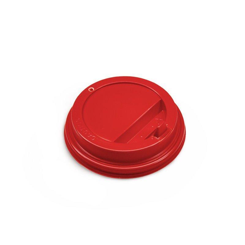 Крышка для гор. напитков с откид. питейником 80 мм, красная