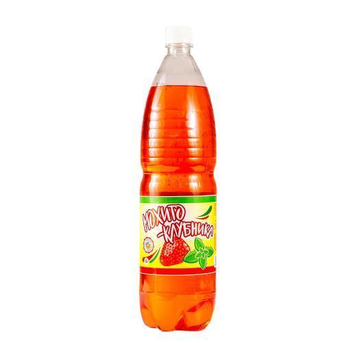 Напиток безалкогольный на основе минеральной воды питьевой столовый газированный Мохито-клубничный