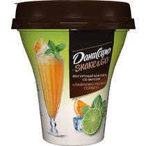 Коктейль йогуртный Даниссимо Shake&Go лаймово - мятный сорбет 5,2%
