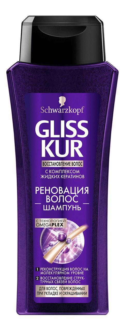 Шампунь Gliss Kur Реновация волос с комплексом жидких кератинов