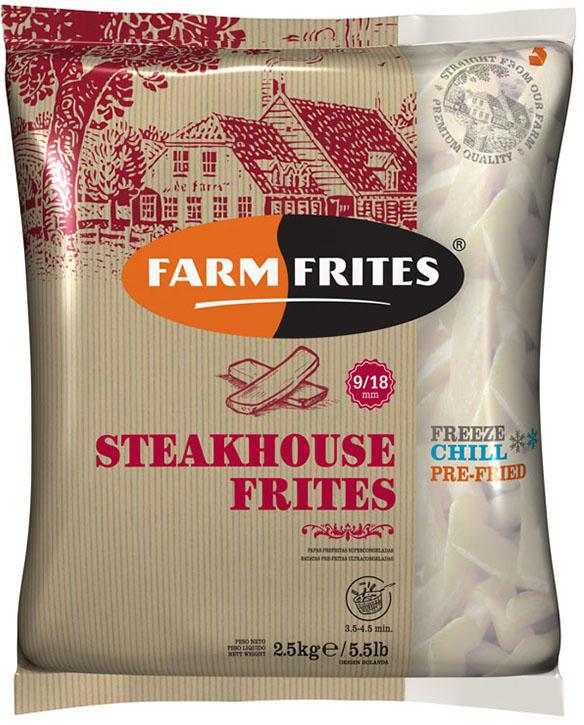 """Картофель фри 9*18 мм """"Farm Frites"""" (2,5кг/уп)"""