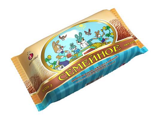 Мороженое Айсберри Семейное Ванильно-шоколадное