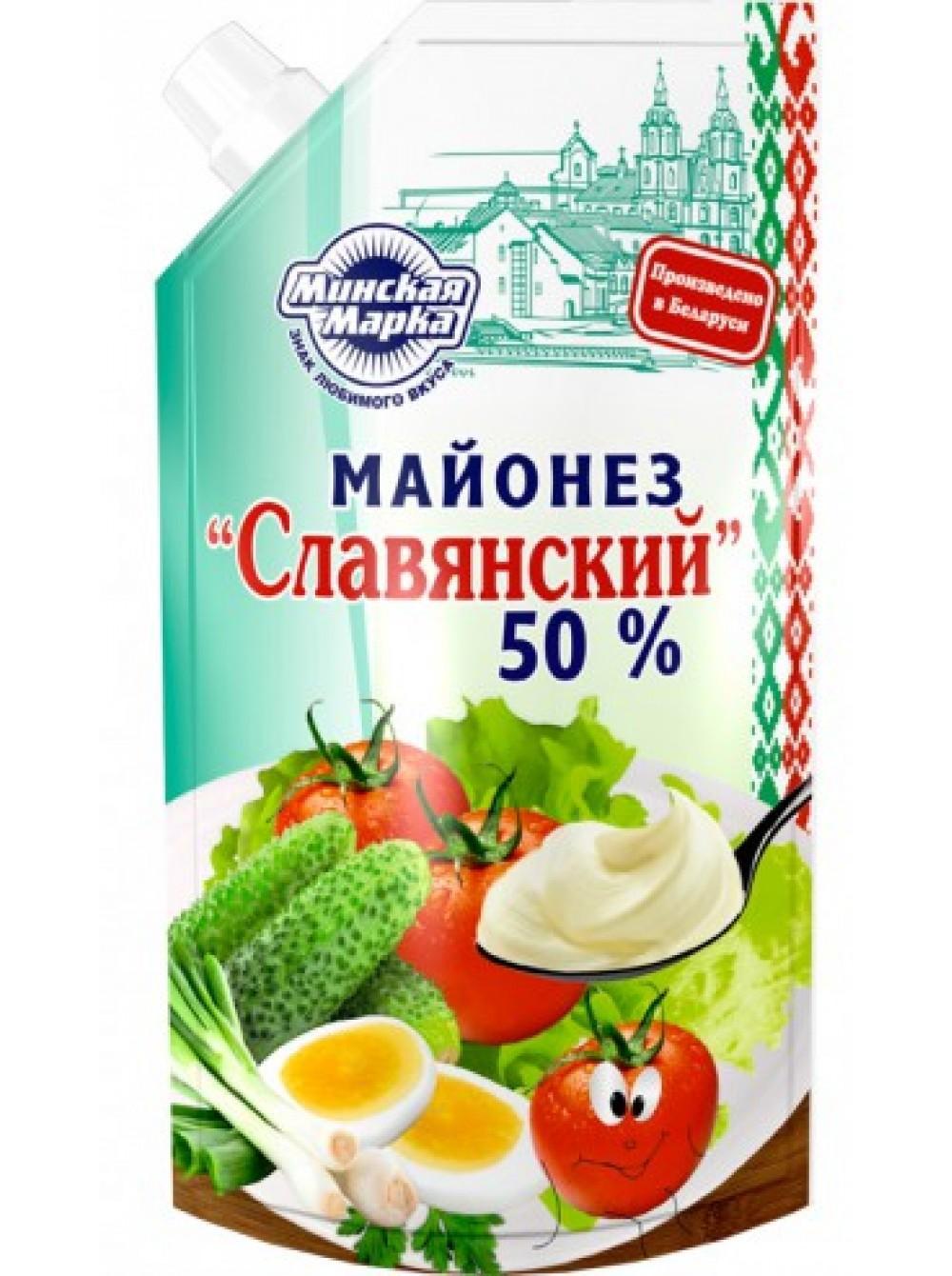 Майонез Минская Марка Славянский 50%