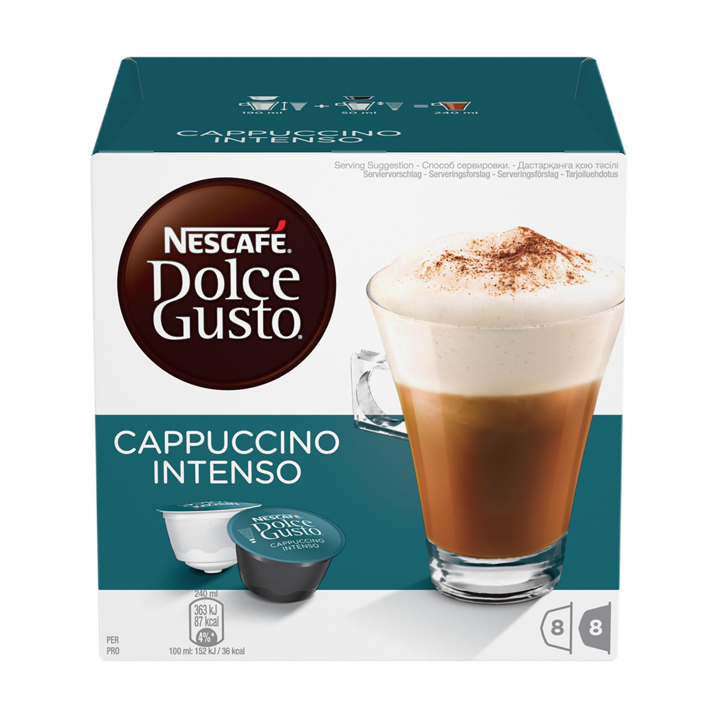 Кофе Nescafe Dolce Gusto Cappuccino Intenso капсулы 192 г.
